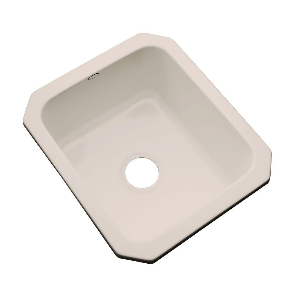 Thermocast Crisfield Undermount Acrylic 17 in. Single Basin Entertainment Sink in Shell