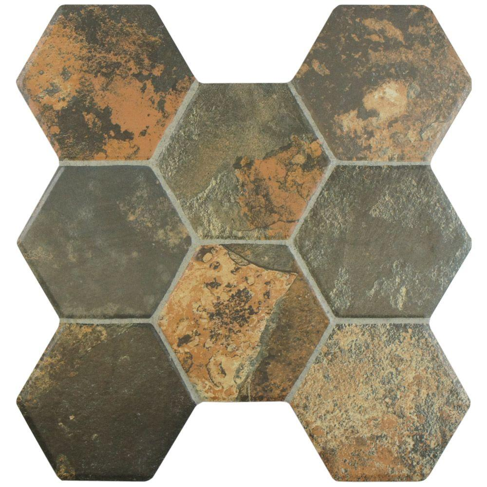 Merola Tile Nature Magma 15-1/4 in. x 16 in. Ceramic Floor and Wall Tile (15.6 sq. ft. / case)
