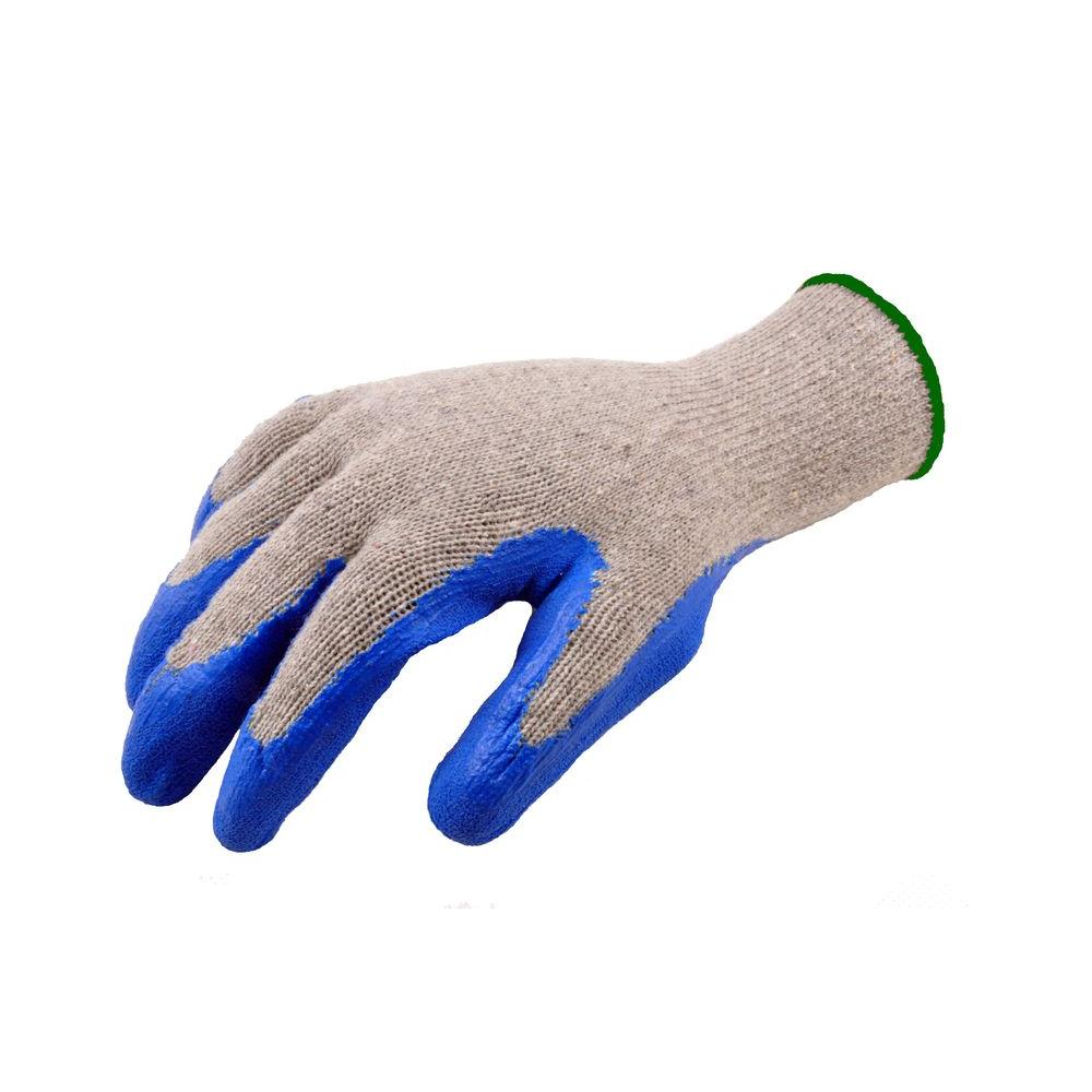 X-Large Size Blue Textured Latex Coated Knit Gloves