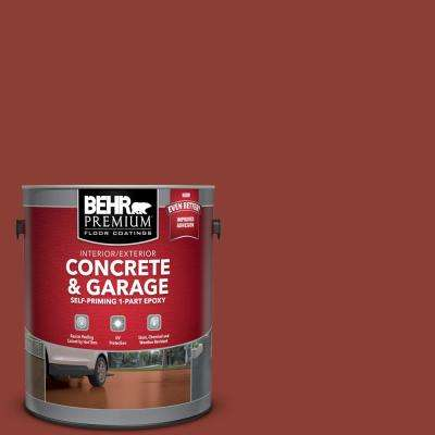 1 gal. #PFC-10 Deep Terra Cotta Self-Priming 1-Part Epoxy Satin Interior/Exterior Concrete and Garage Floor Paint