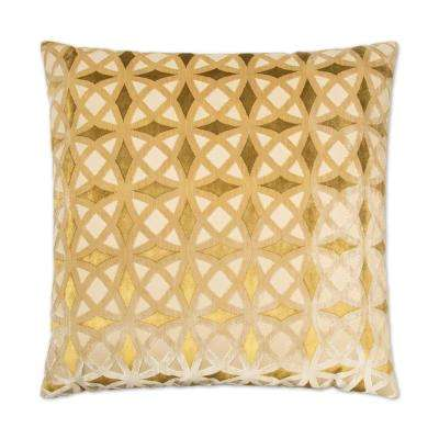 Kraus Gold Feather Down 24 in. x 24 in. Standard Decorative Throw Pillow