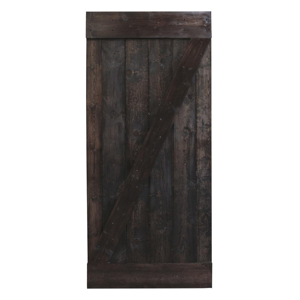 Dark Walnut Plank Knotty Pine Sliding Barn Wood
