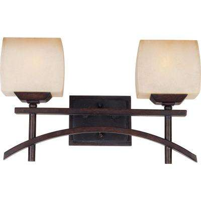Asiana 2-Light Roasted Chestnut Bath Vanity Light