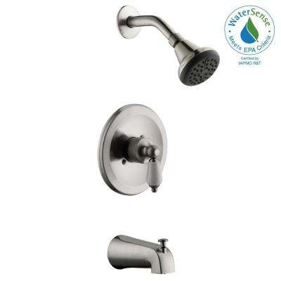 Teapot Single-Handle 1-Spray Tub and Shower Faucet in Brushed Nickel (Valve Included)
