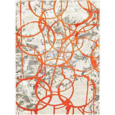 Tanja Cecilia Orange 3 ft. 10 in. x 5 ft. 2 in. Indoor Area Rug