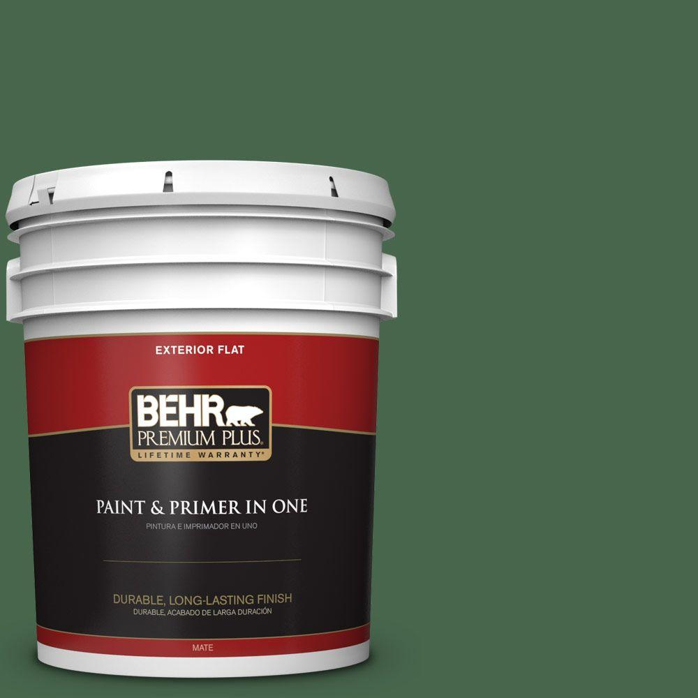 5-gal. #460D-7 Sabal Palm Flat Exterior Paint
