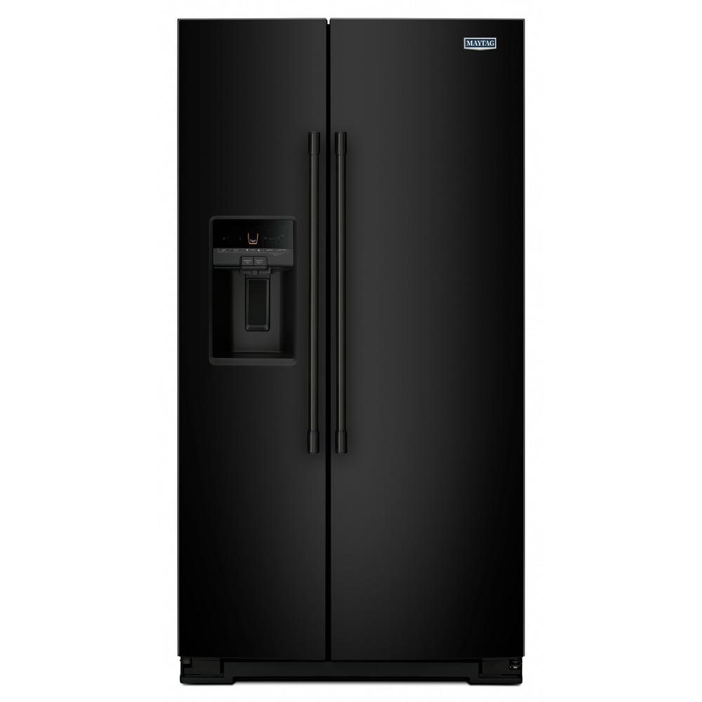 Maytag 26 cu. ft. Side by Side Refrigerator in Black