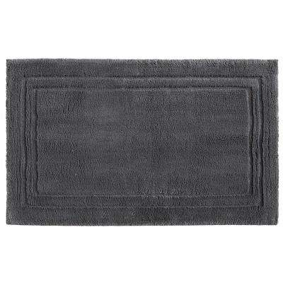 Imperial 30 in. x 50 in. Cotton Bath Mat in Pewter