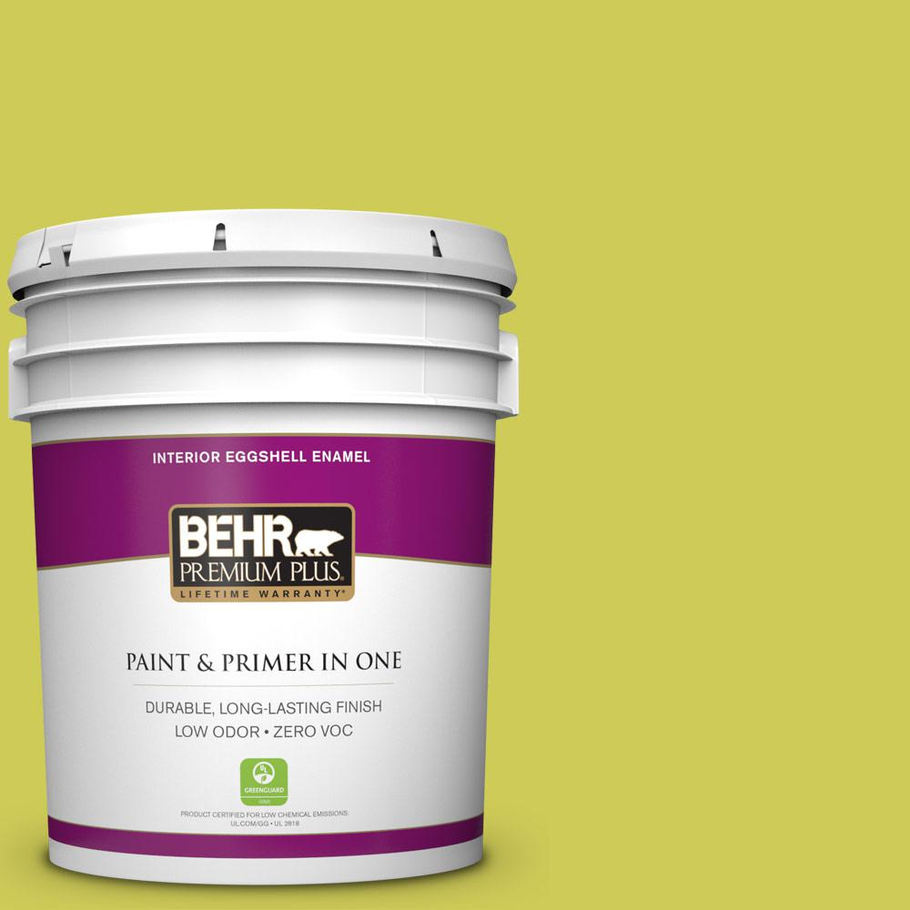 5 gal. #400B-5 Grape Green Zero VOC Eggshell Enamel Interior Paint