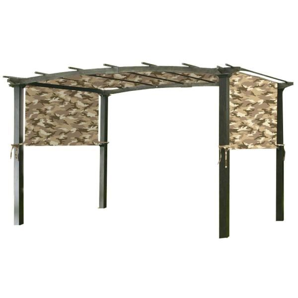 Universal Replacement Canopy Top Cover in Camo Sand for Metal Pergola Frame