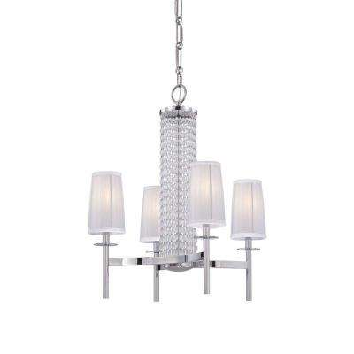 Candence 4-Light Chrome Interior Incandescent Chandelier