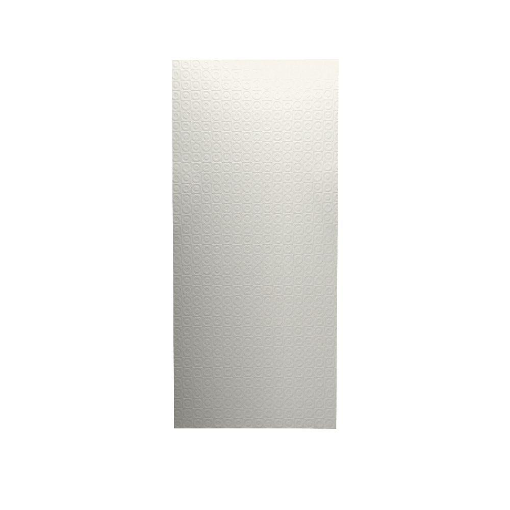 Swan Barcelona 1/4 in. x 36 in. x 96 in. One Piece Easy Up Adhesive Shower Wall in Tahiti Ivory-DISCONTINUED