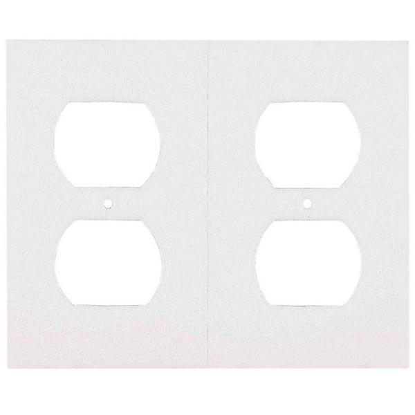 Insulated Sealers 2 Receptacle Outlet Plate-White (6-Pack)