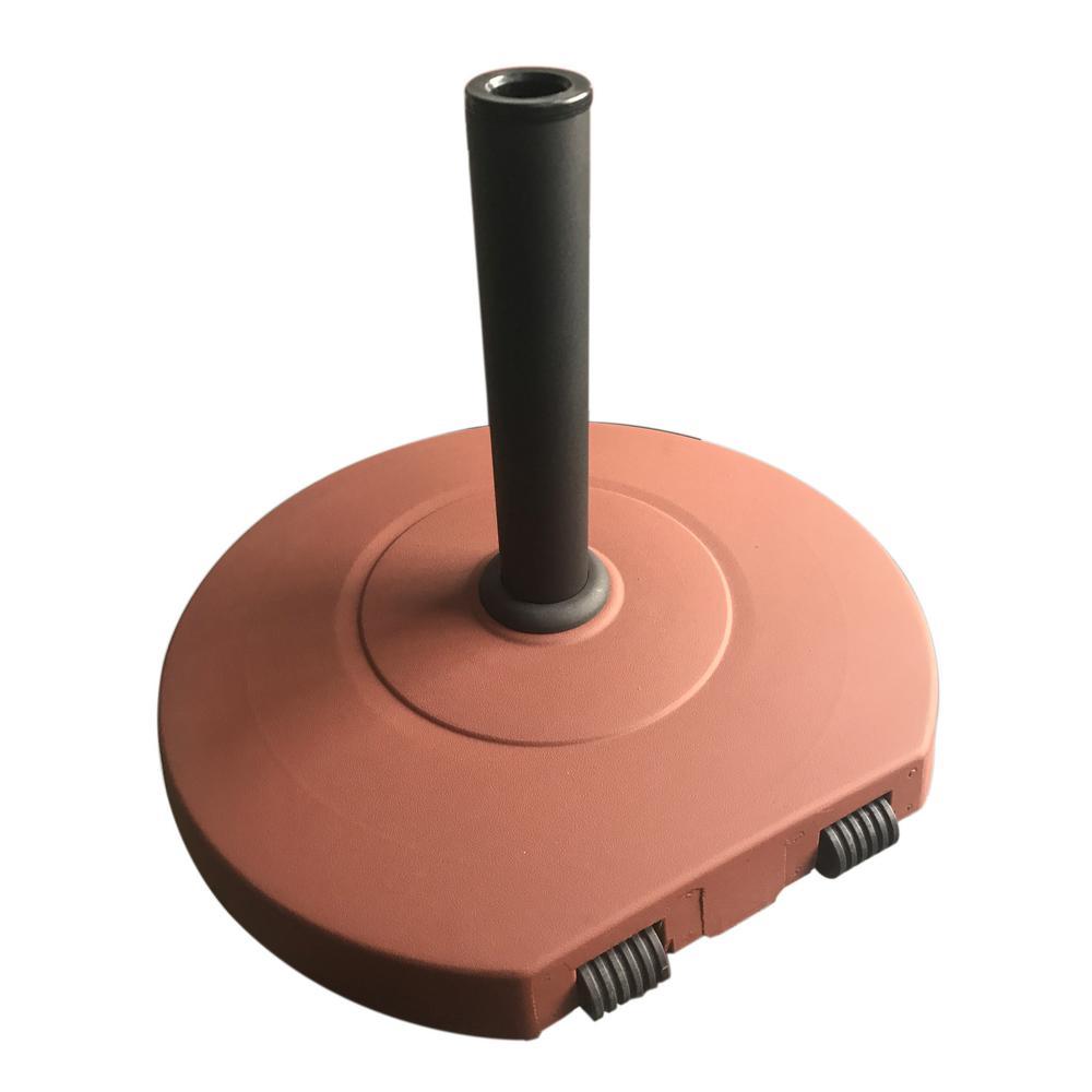 Achill 62.06 lbs. Concrete Patio Umbrella Base in Red