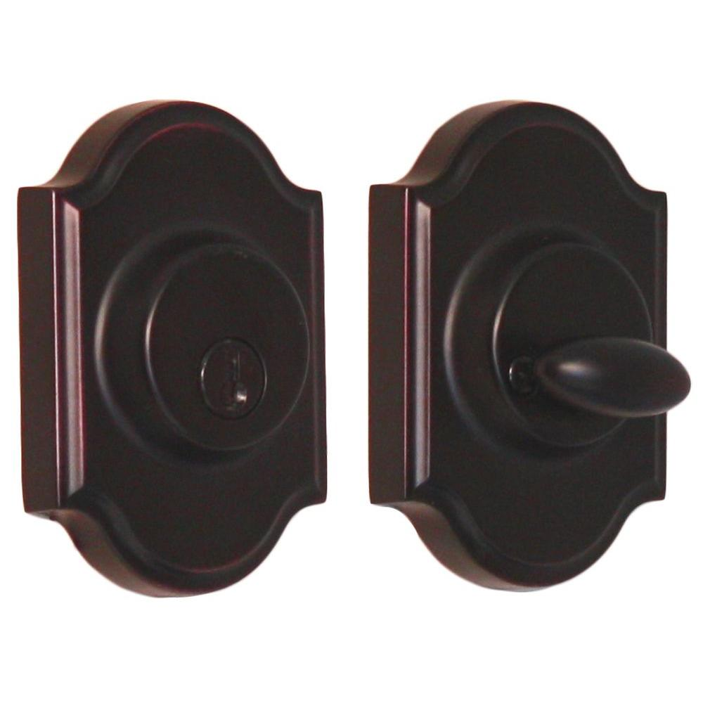Elegance Single Cylinder Oil Rubbed Bronze Premiere Deadbolt
