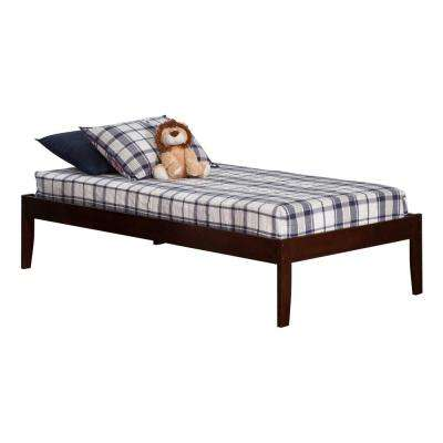 Concord Walnut Twin XL Platform Bed with Open Foot Board