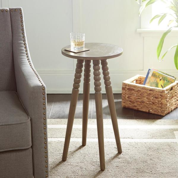 Silverwood Furniture Reimagined Benjamin Gray Round Accent Table ...
