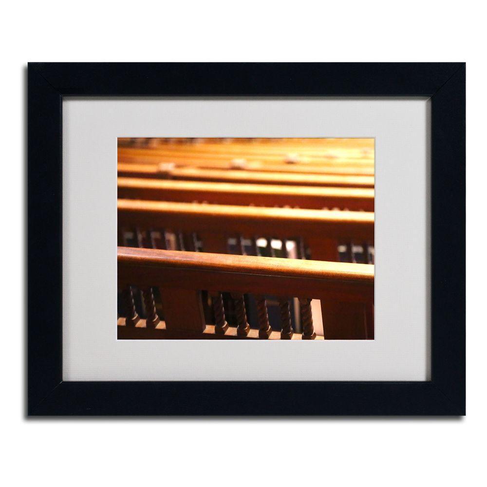 11 inch x 14 inch Trinity Church 2 Matted Framed Art by