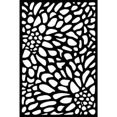0.3 in. x 71 in. x 3.95 ft. Bloom Recycled Plastic Charcoal Decorative Screen (3-Piece per Bundle)