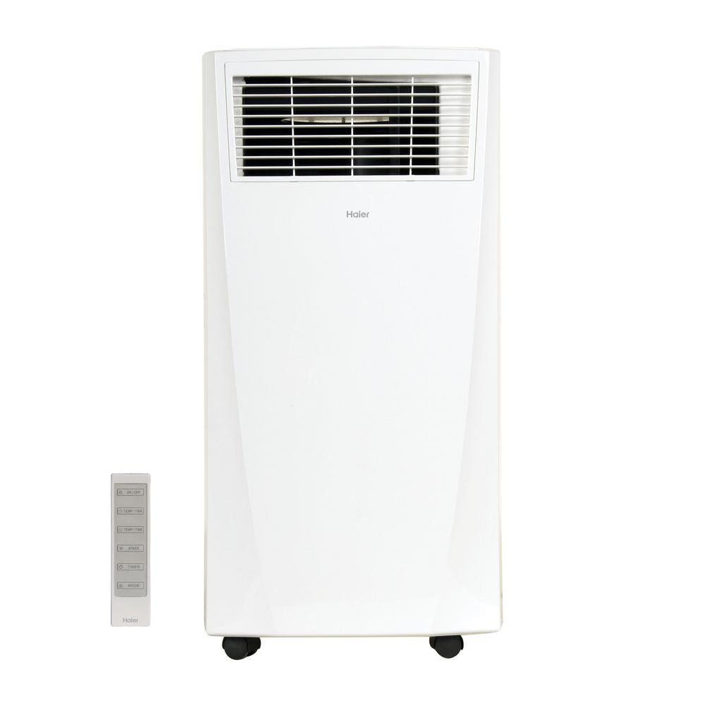 Haier 8,000 BTU 115-Volt Portable Air Conditioner with Dehumidifier in White