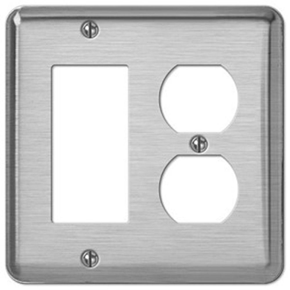 Creative Accents Steel 1 Decora Wall Plate - Brushed Chrome