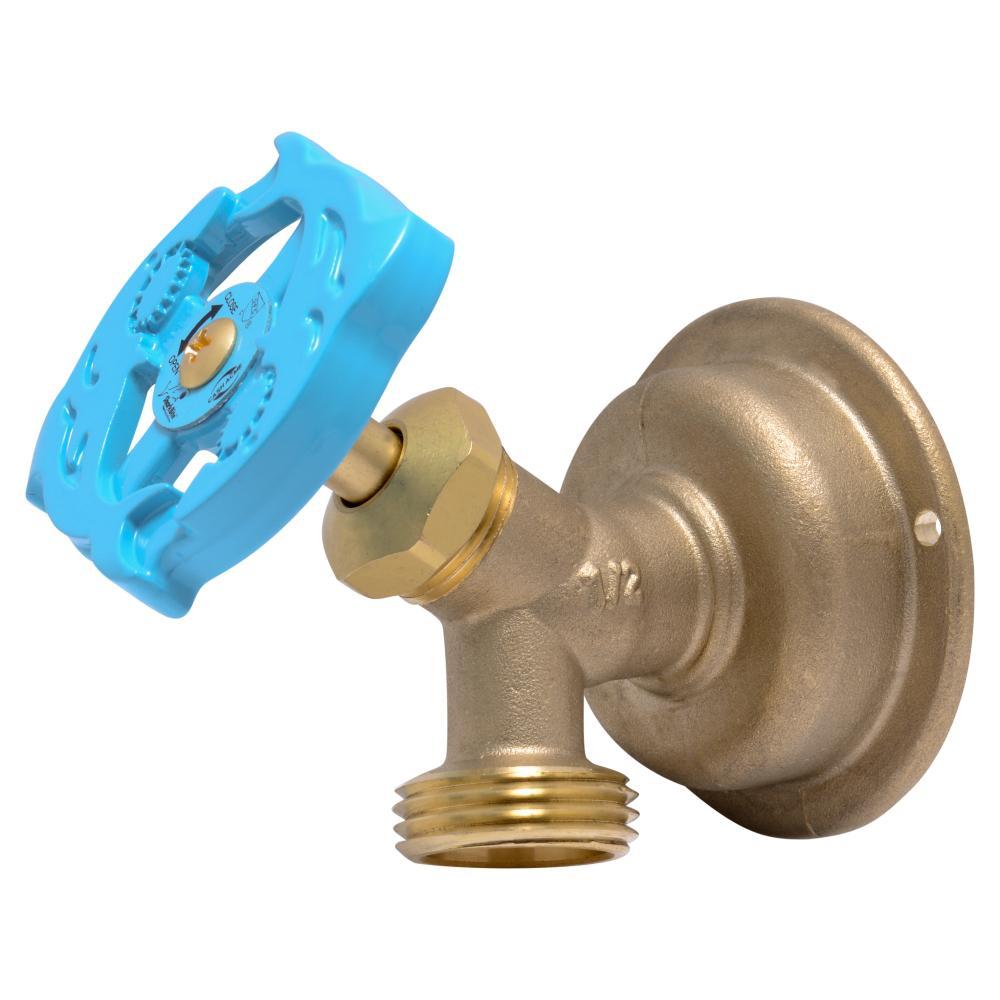 1/2 in. Brass Multi-Turn Push-to-Connect x MHT Hose Bibb