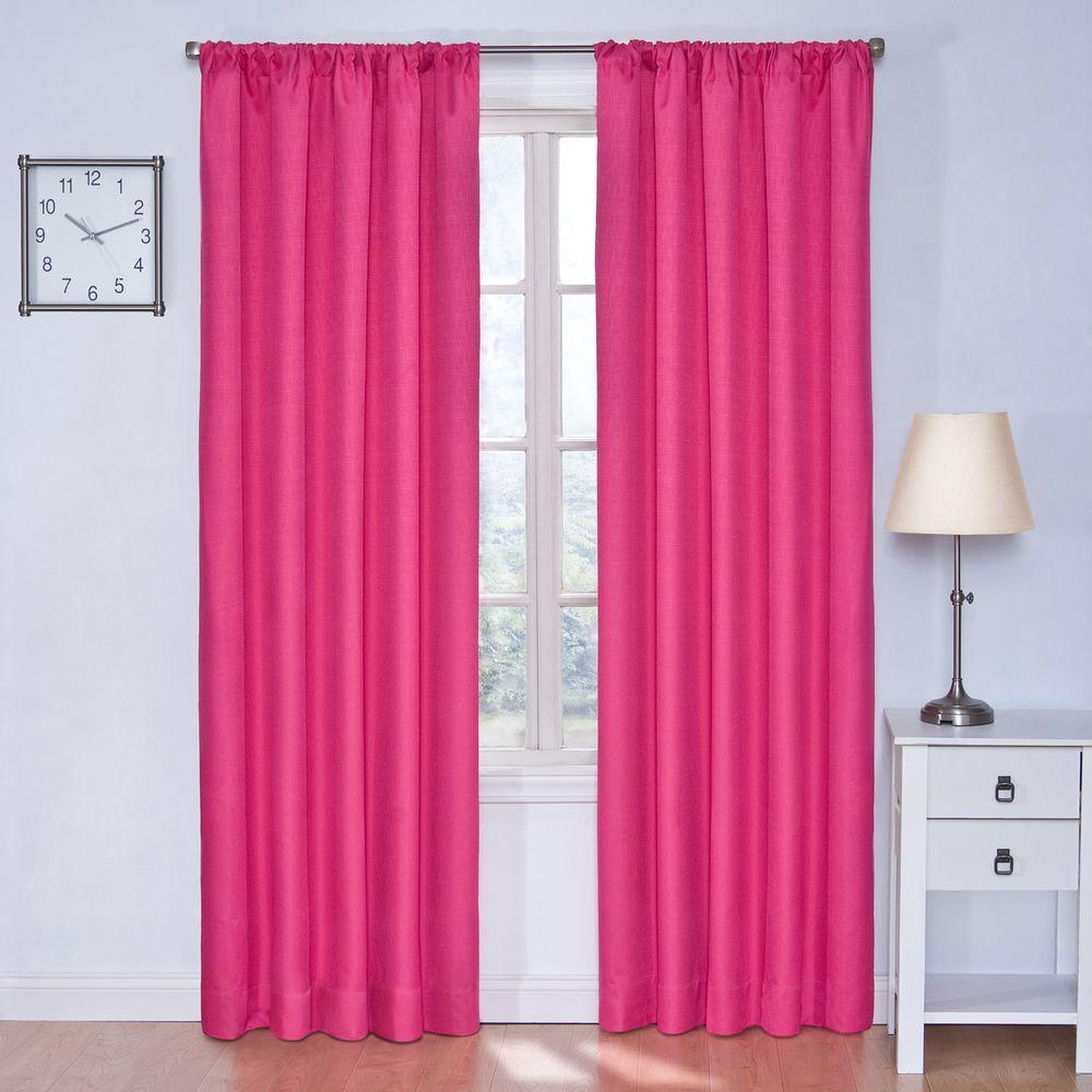 Eclipse Blackout Kendall Raspberry Curtain Panel 63 In Length