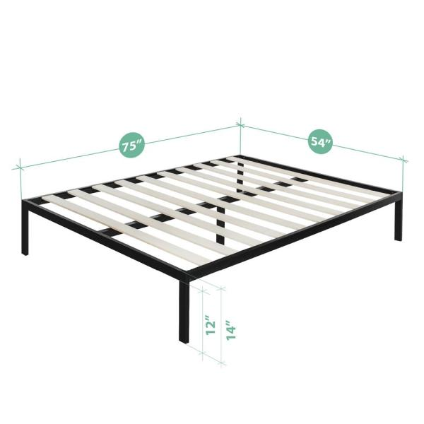 Bed Frames & Divan Bases Florida Black Metal Bed Frame Traditional Style Single Double King Size We Take Customers As Our Gods Home, Furniture & Diy