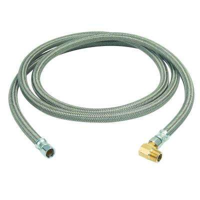 3/8 in. Compression x 3/8 in. Compression x 84 in. Braided Polymer Dishwasher Connector with 3/8 in. Compression Elbow