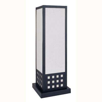 22 in. Square Black Table Lamp