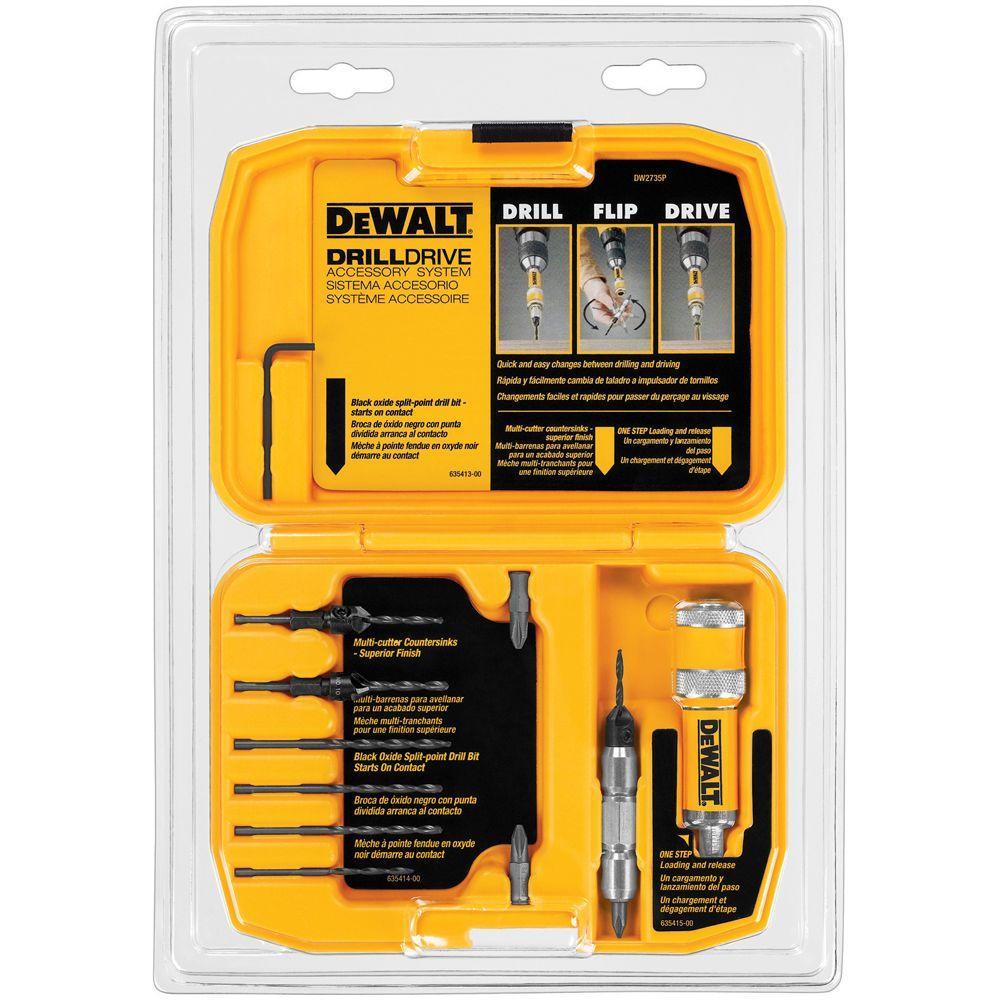 Dewalt Drill Drive Set 12 Piece Dw2735p The Home Depot