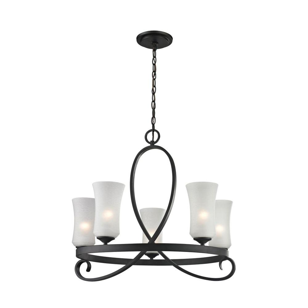 Archer 5-Light Bronze Chandelier