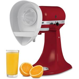 KitchenAid Citrus Juicer Attachment for Stand Mixers-JE - The Home on bosch juicer attachment, citrus juicer attachment, kitchenaid sauce maker, hobart juicer attachment, kitchenaid grinder parts, cuisinart juicer attachment, magic bullet juicer attachment, oster juicer attachment, vitamix juicer attachment, magimix juicer attachment, kitchenaid 4.5 qt glass bowl, ninja blender juicer attachment, kitchenaid meat grinder sausage stuffer, kitchenaid mixer, food processor with juicer attachment,