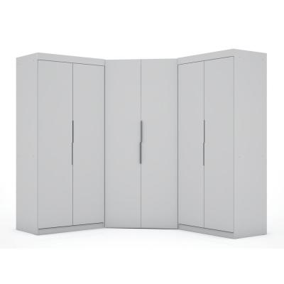 Ramsey 3.0 White Sectional Corner Closet (Set of 3)