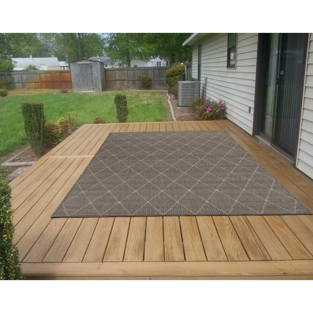 Home Depot Outdoor Decor: Ottomanson Jardin Collection Contemporary Trellis Design