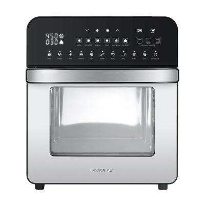 1700-Watts Electric Air Fryer Oven Grill Stainless Steel with Dual Heating Rotisserie and Dehydrator