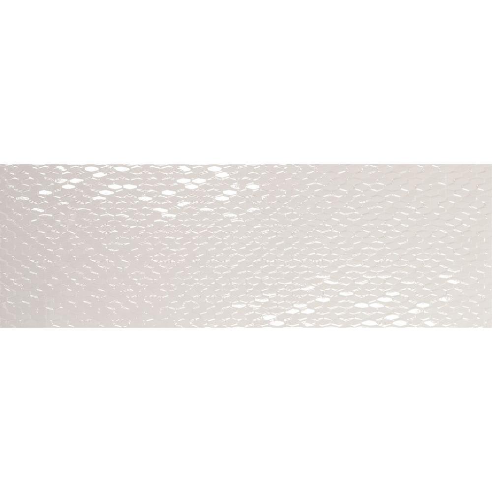 Emser Artwork Hexagon White 12 in. x 35 in. Ceramic Wall Tile (11.63 sq. ft. / case)