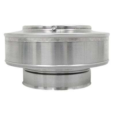 6 in. Dia. Aluminum Vent Pipe Cap in Mill Finish