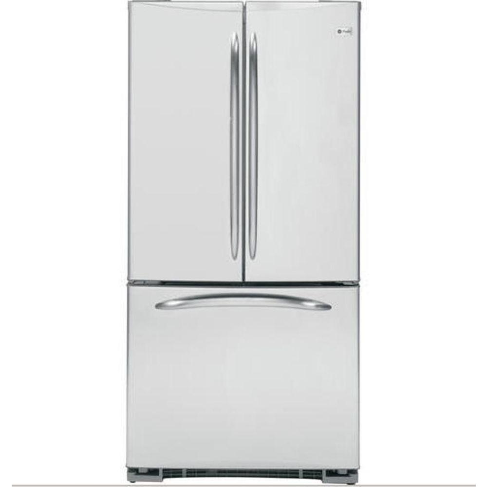 GE Profile 33 in. W 22.2 cu. ft. French Door Refrigerator in Stainless Steel