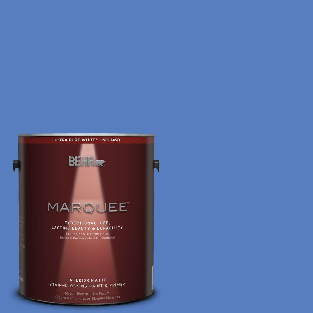 Behr Marquee 1 Gal Mq4 25 Blue Iolite One Coat Hide Matte