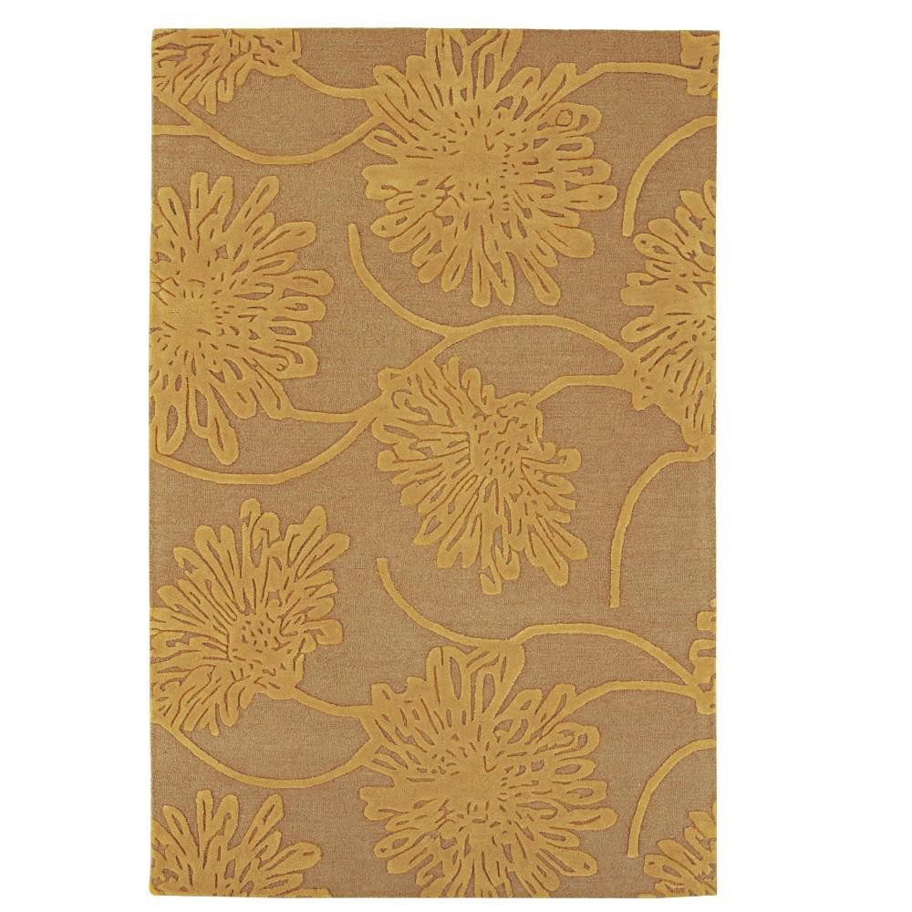 Bouquet Latte/Gold 4 ft. x 6 ft. Area Rug