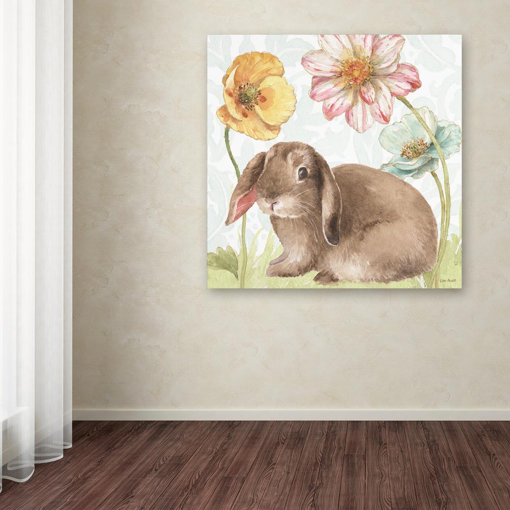 "18 in. x 18 in. ""Spring Softies Bunnies III"" by Lisa Audit Printed Canvas Wall Art"