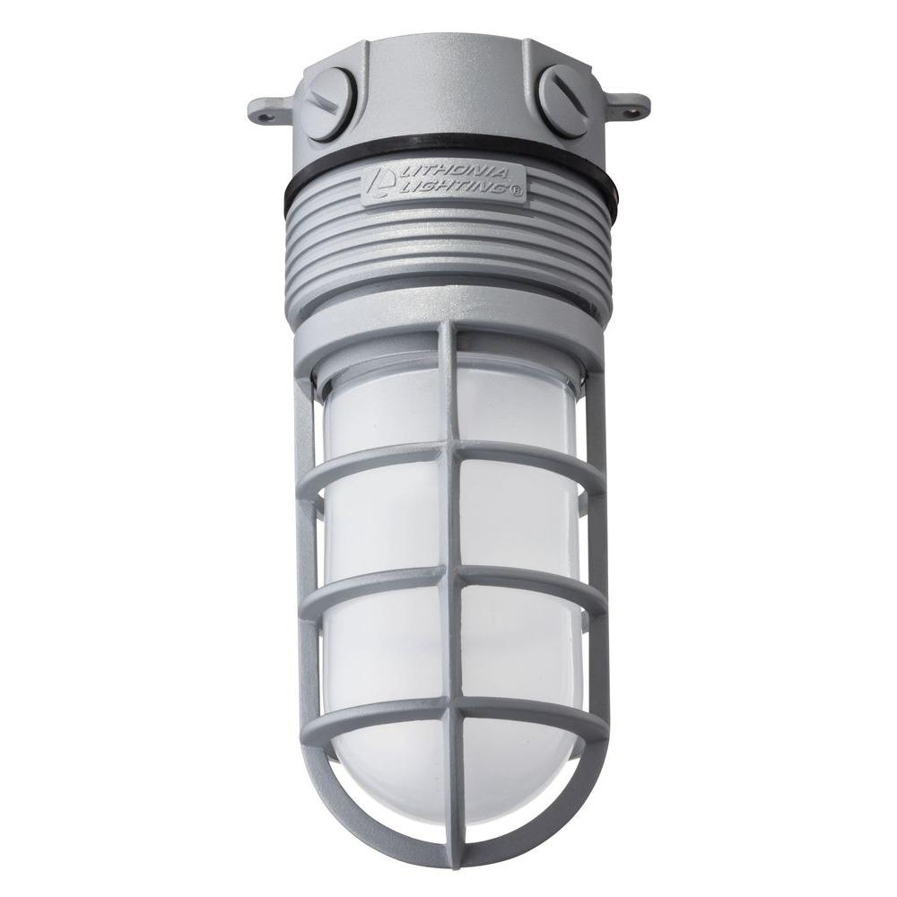 Lithonia Lighting Gray Outdoor Integrated LED Vapor Light Flush Mount