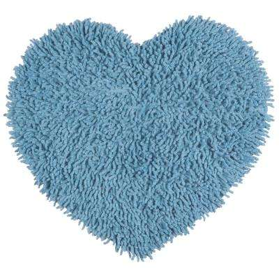 Light Blue Shag Chenille Twist  1 ft. 8 in. x 2 ft. Accent Rug
