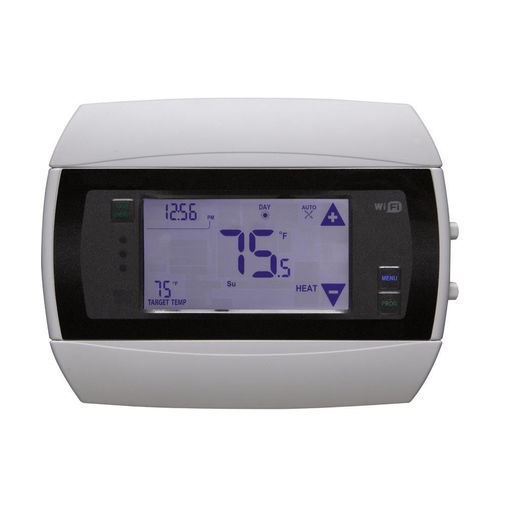 Battery Operated Wifi Thermostats The Home Depot Furnace Ac Wiring 7 Day Wi Fi Module Programmable Thermostat