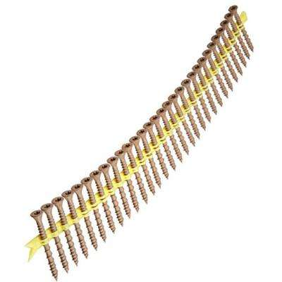 #10 x 2 in. Star Drive Flat Head Deck-Drive DSV Collated Wood Screws (1,500-Pack)