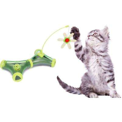 Green Kitty-Tease Interactive Cognitive Training Puzzle Cat Toy Tunnel Teaser