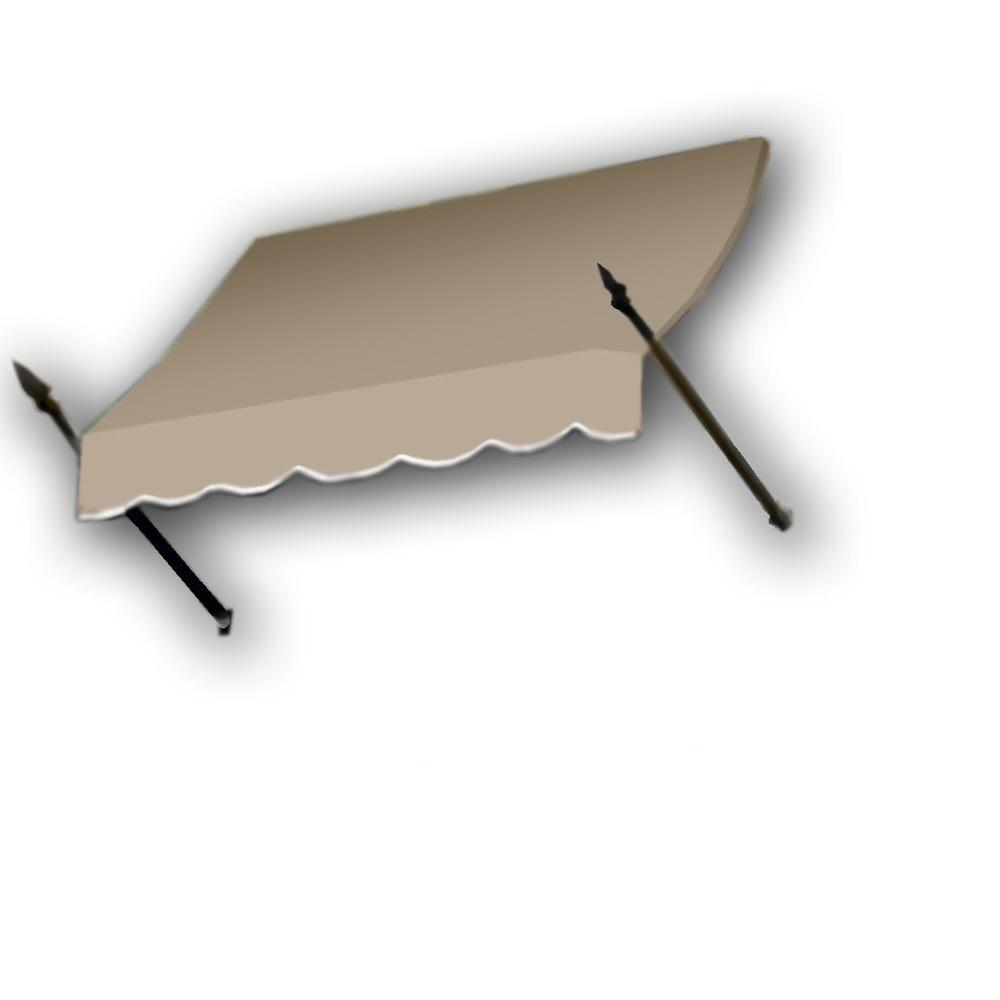AWNTECH 18 ft. New Orleans Awning (44 in. H x 24 in. D) in Linen
