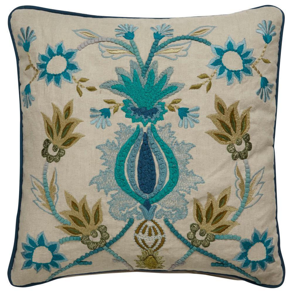 Dekota White Swan Poly Decorative Pillow