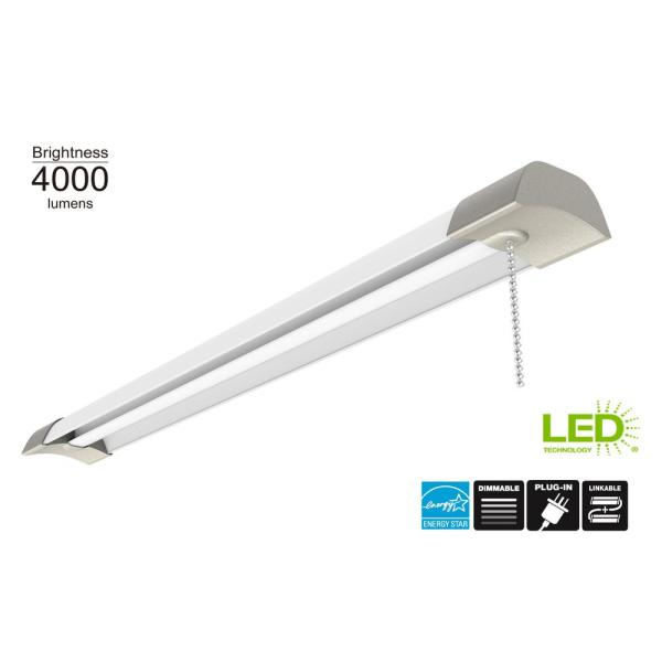 4ft. 50-Watt Equivalent Integrated LED Shop Light 4000K